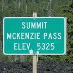Top of McKenzie Pass.