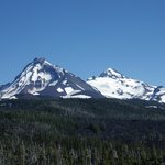 Two of the Three Sisters: North to the left and Middle on the right.