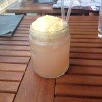 Rhubarb & custard cocktail