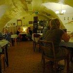 Inside the cellar restaurant