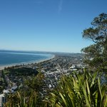 From the top of The Mount, the beach and town.