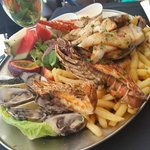 The delicious fresh seafood platter