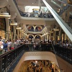 Shot of the levels in QVB