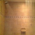Deluxe shower in the Victoria Suite