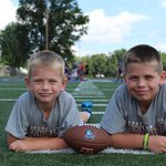 Gus and Charlie on the practice field