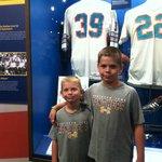 Standing next to Larry Csonka's jersey