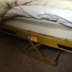 Wobbly single bed turned out to not even be a bed!