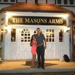 Us outside this great pub!