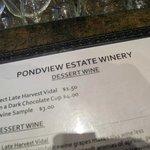 Shot of the wine list