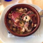 Prawns with mushroom and ham (everyone should try this! It's heaven in mouth!!)