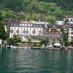 Hotel Beau Rivage from Lake Lucerne