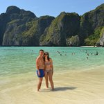 Playa paradisiaca en una excursion