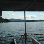 The view from the ship towards Bar Harbor and Cadillac