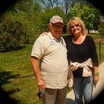 WW II Veteran - Vincent Gage and myself at the Memorial