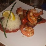 King prawns with rice