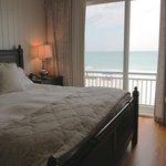 Ocean front master bedroom in condo 7C on the third floor