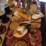 Meat and cheese sampler...was delicious!