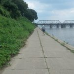 River Walk on Lower level alongside River