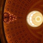 To look up and see the incredible ceiling domes on the inside