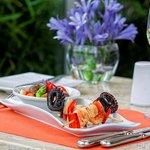 Seafood skewer Restaurant Terrace Aguaymanto