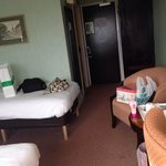 Inside our room. Had a double bed and a single bed. Quite spacious.