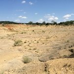 A view from the open pit. Notice, no shade and some steep slopes. Don't forget to take your hat,