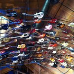 Guitars on the ceiling Hard Rock Hotel