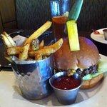 Beef burger & fries, excellent taste and delivered promptly