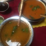 The soups we ordered. The left is the Dal Shorba, the right is the Murg Ka Shorba. I recommend t
