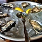 oysters in the half shell
