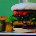 Hamburguesa vegana, deliciosa!