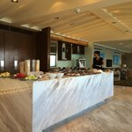 Interiors and food at the club lounge