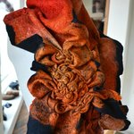 Merino Wool and Silk Scarf