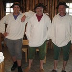 Period costumes for the men