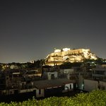 View of the acropolis from the rooftop restaurant