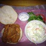 Smaller than previous visit Flounder sandwich