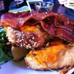 Super Cheesy Bacon French Toast