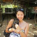 holding a howler monkey baby....so cute!!