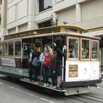 The Cable Car outside the front door of The Chancellor Hotel