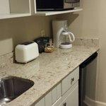 Renovated Studio kitchenette.