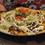 Lunch nachos...not too large, not too small.