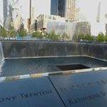 The Memorial fountains.