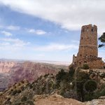 The Desert View Watchtower at the Grand Canyon