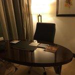 Desk in hotel room
