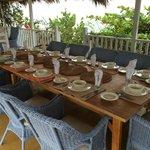 Great outdoor dining space at Calabash Villa