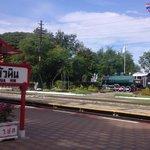 train display along rail tracks