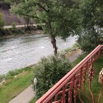 View from 4th floor balcony of the Animas river and trail.