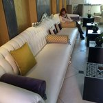 Looooongest couch in Venice!