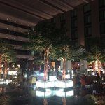 Lobby with the restaurants