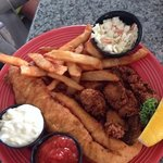 fried flounder & oysters